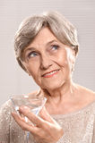 beautiful middle-aged woman royalty free stock image