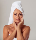 Beautiful middle aged woman Stock Photography