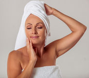 Beautiful middle aged woman Royalty Free Stock Image