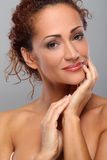 Beautiful middleaged woman with makeup Stock Photography