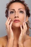 Beautiful middleaged woman with makeup Royalty Free Stock Photo