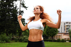 Beautiful middleaged woman working out Royalty Free Stock Photos