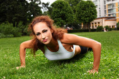 Beautiful middleaged woman working out Royalty Free Stock Photo