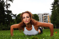 Beautiful middleaged woman working out Royalty Free Stock Photography