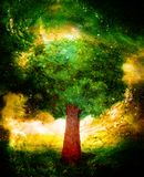 Beautiful mighty colorful tree in cosmic space. Beautiful mighty colorful tree in cosmic space Stock Photo