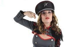 Beautiful military woman Royalty Free Stock Photo