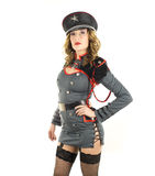 Beautiful military woman Stock Photography