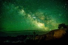 Beautiful Milky way shot at Arches National Park Utah USA. Astronomy site Utah low light pollution famous tourist spot. Beautiful Milky way shot at Arches stock image