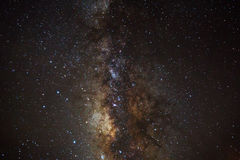 Beautiful milkyway on a night sky Royalty Free Stock Photos