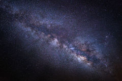 Beautiful milkyway on a night sky, Long exposure photograph Royalty Free Stock Photos