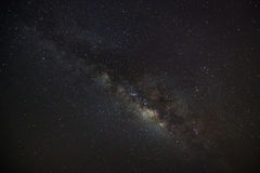 Beautiful milkyway on a night sky, Long exposure photograph, wit royalty free stock photos
