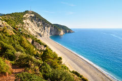 Beautiful Milos beach on the Lefkada island Royalty Free Stock Photos