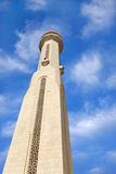 Beautiful minaret of Al Fateh Mosque, look up Stock Images
