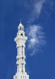 Beautiful minaret of Al Gudaibiya mosque, Bahrain Royalty Free Stock Photo