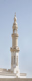 Beautiful minaret of a Mosque in Dubai Stock Photo