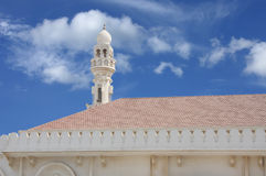 Beautiful minaret of Sheikh Isa Bin Ali Mosque Royalty Free Stock Photos