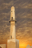 Beautiful minaret at sunset, khamis mosque Bahrain Stock Photos