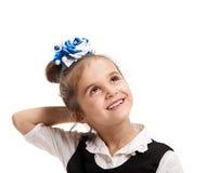 Beautiful minded schoolgirl Stock Image