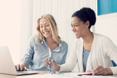 Beautiful minds work together Stock Photo