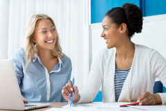 Beautiful minds work together Royalty Free Stock Image