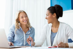 Beautiful minds work together Royalty Free Stock Photo