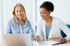 Beautiful minds work together Stock Image