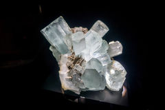 Beautiful mineral at National Museum of Natural Science in Orlando Houston in USA, in a black background Stock Photos