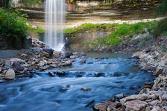 Beautiful Minnehaha Creek Waterfall. Royalty Free Stock Images