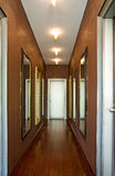 Beautiful mirrors in corridor Royalty Free Stock Images