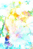 Beautiful miscellaneous flower, Watercolor painting, pc collage. Royalty Free Stock Photography