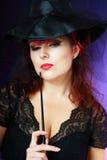 Beautiful misteriouse woman Royalty Free Stock Photos