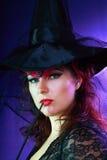 Beautiful misteriouse woman Stock Image