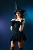 Beautiful misteriouse woman cosplay Stock Photo
