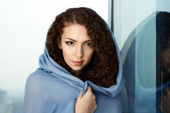 Beautiful misteriouse woman Stock Images