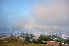 Beautiful misty view of downtown of San Francisco Royalty Free Stock Photos
