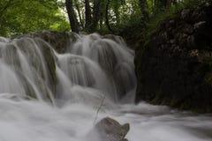 Beautiful misty water cascade Stock Image