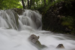 Beautiful misty water cascade Stock Images