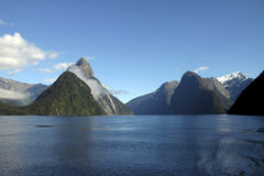 Beautiful Mitre peak Royalty Free Stock Photos