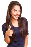 Beautiful mix race woman showing thumbs up Royalty Free Stock Photos