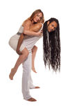 Beautiful mixed couple in loving embrace Royalty Free Stock Images