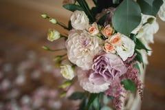 Beautiful mixed flower wedding decoration Stock Photos