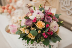 Beautiful mixed flower wedding decoration Stock Image