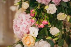 Beautiful mixed flower wedding decoration Royalty Free Stock Image