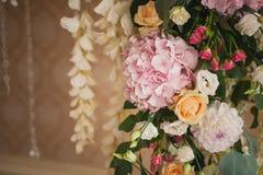 Beautiful mixed flower wedding decoration Royalty Free Stock Photography