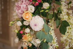 Beautiful mixed flower wedding decoration Royalty Free Stock Photography