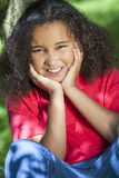 Beautiful Mixed Race African American Girl Royalty Free Stock Photos