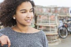 Beautiful Mixed Race African American Girl Teenager Stock Photos