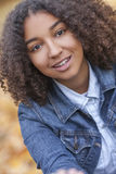 Beautiful Mixed Race African American Girl Teenager Stock Photos