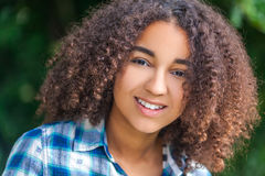 Beautiful Mixed Race African American Girl Teenager Stock Photo