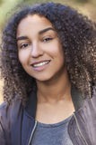 Beautiful Mixed Race African American Girl Teenager Royalty Free Stock Photos